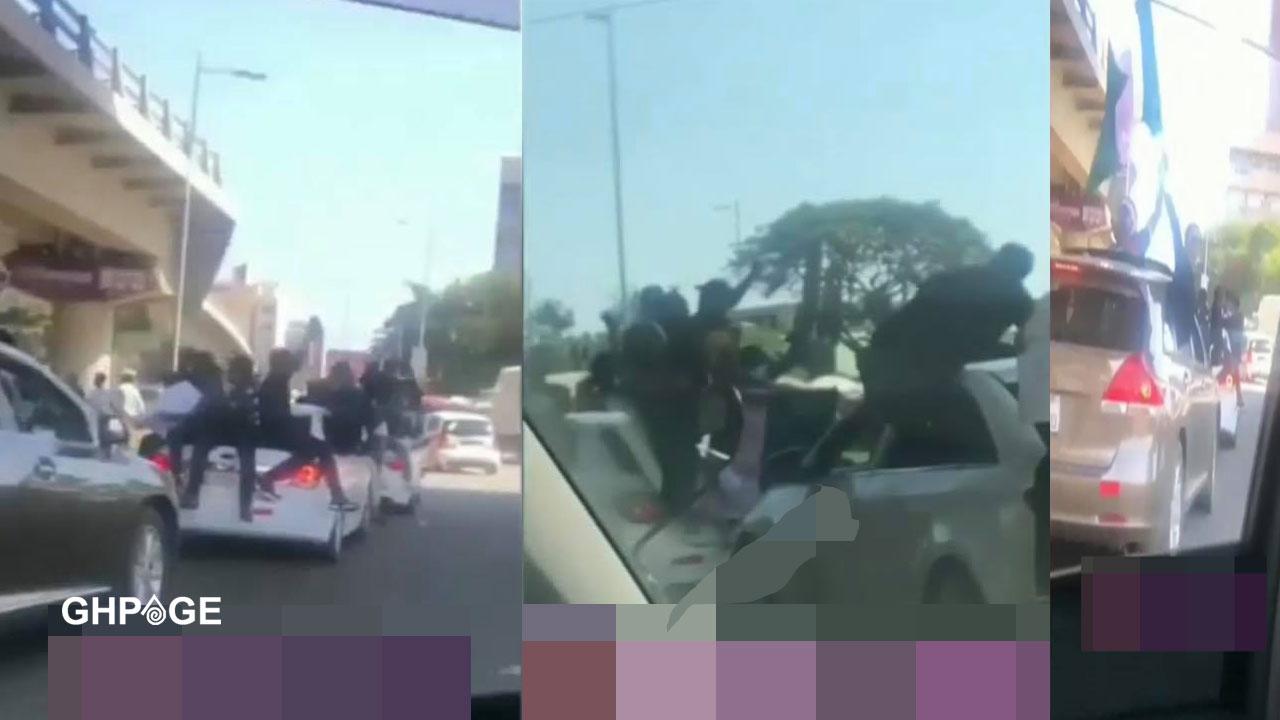EndSARS: Massive traffic in Accra as Nigerians in Ghana demonstrate