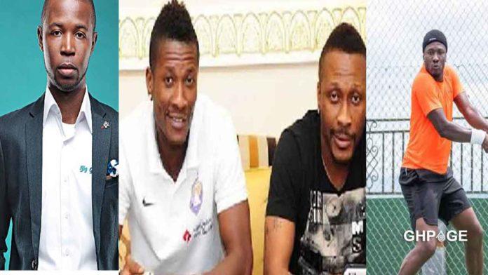 Godwin Martey(L) Asamoah Gyan and Brother Baffour Gyan(R)
