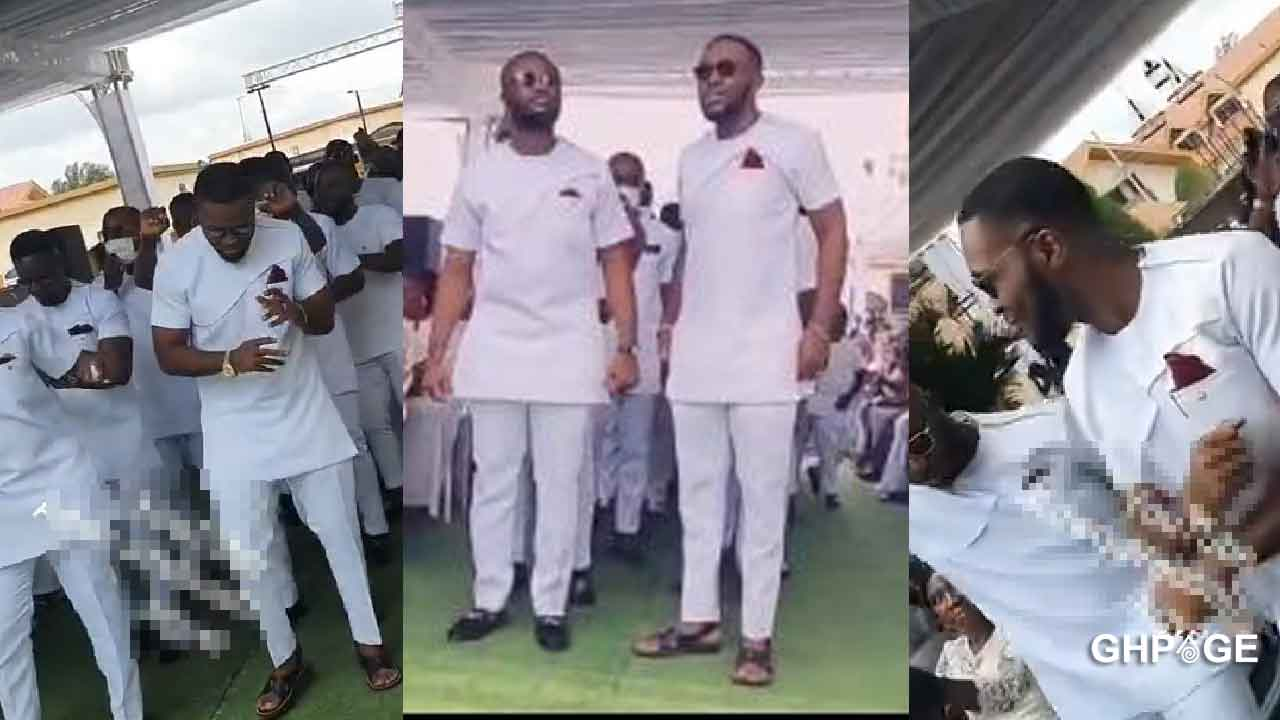 Kennedy Osei leads groomsmen choreography at Dr Ofori Sarpong's daughter's wedding