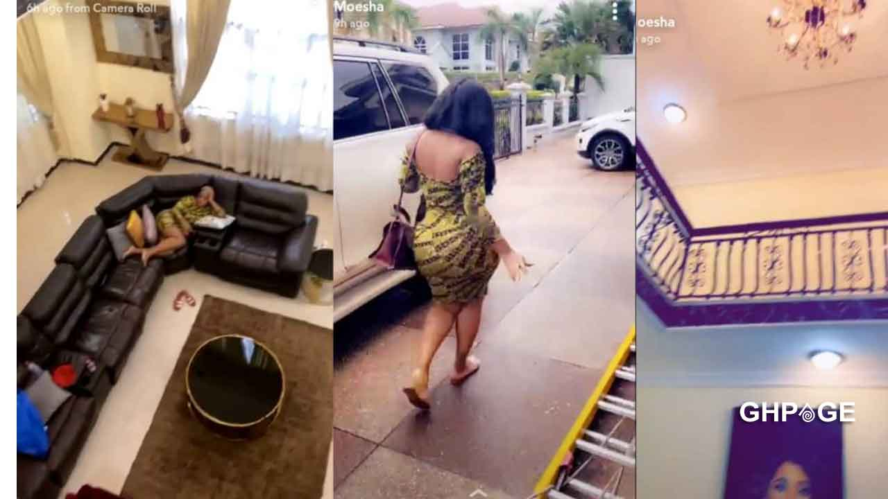 Moesha Boduong flaunts her plush mansion and cars for the first time