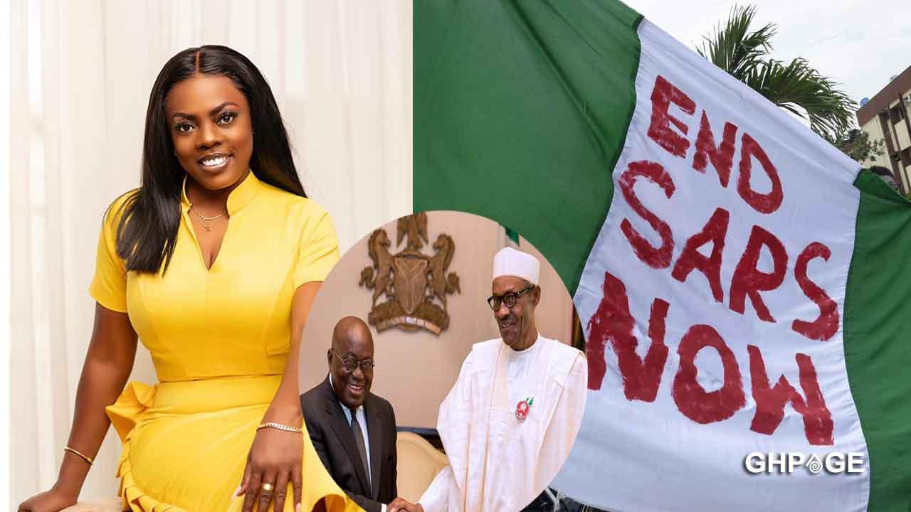 #Endsars: Nana Aba Anamoah replies Nigerians attacking Akufo-Addo on social media