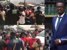 Menzgold customers demonstrating against Nana Appiah Mensah