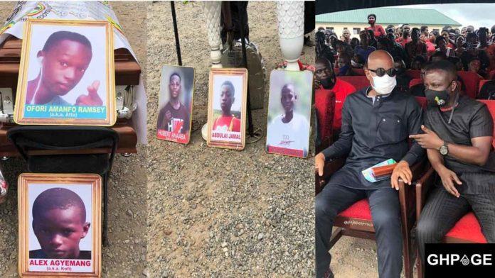 Funeral of footballers who died in the Offinso accident