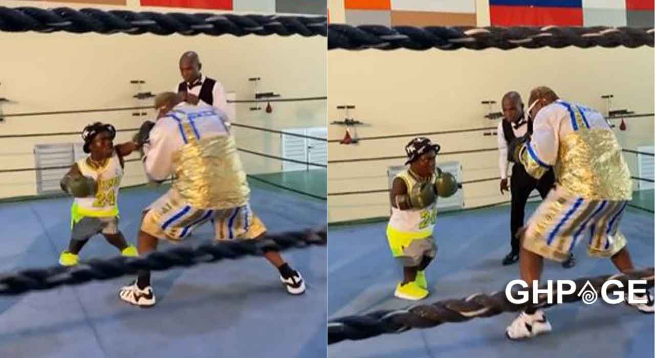 Video of Shatta Bandle destroying Ayittey Powers in boxing bout