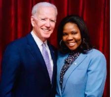 Adjoa Asamoah and Joe Biden