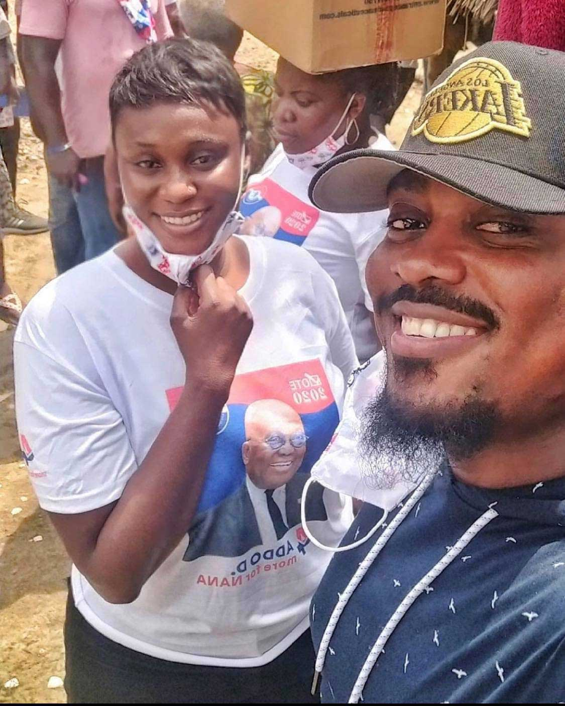 Bibi Bright and Toosweet Annan campaigning for Nana Addo