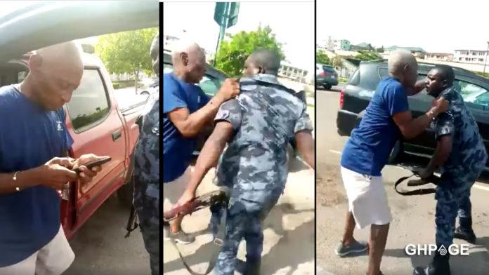 Hit and run driver tries to seize policeman gun