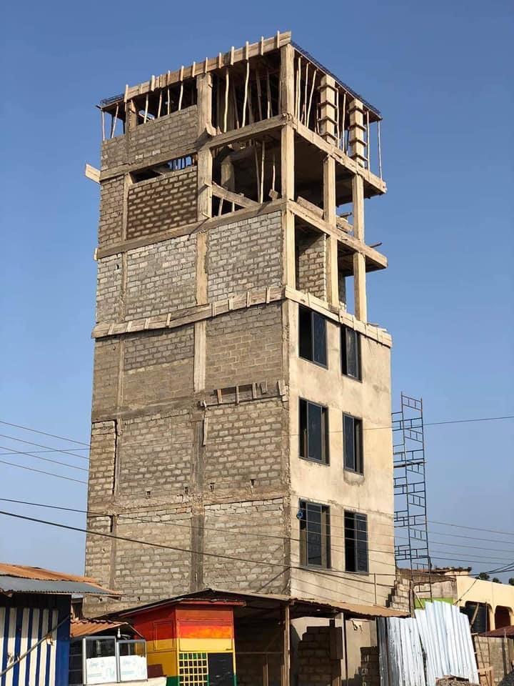 Dangerous storey building at Ashaley Botwe
