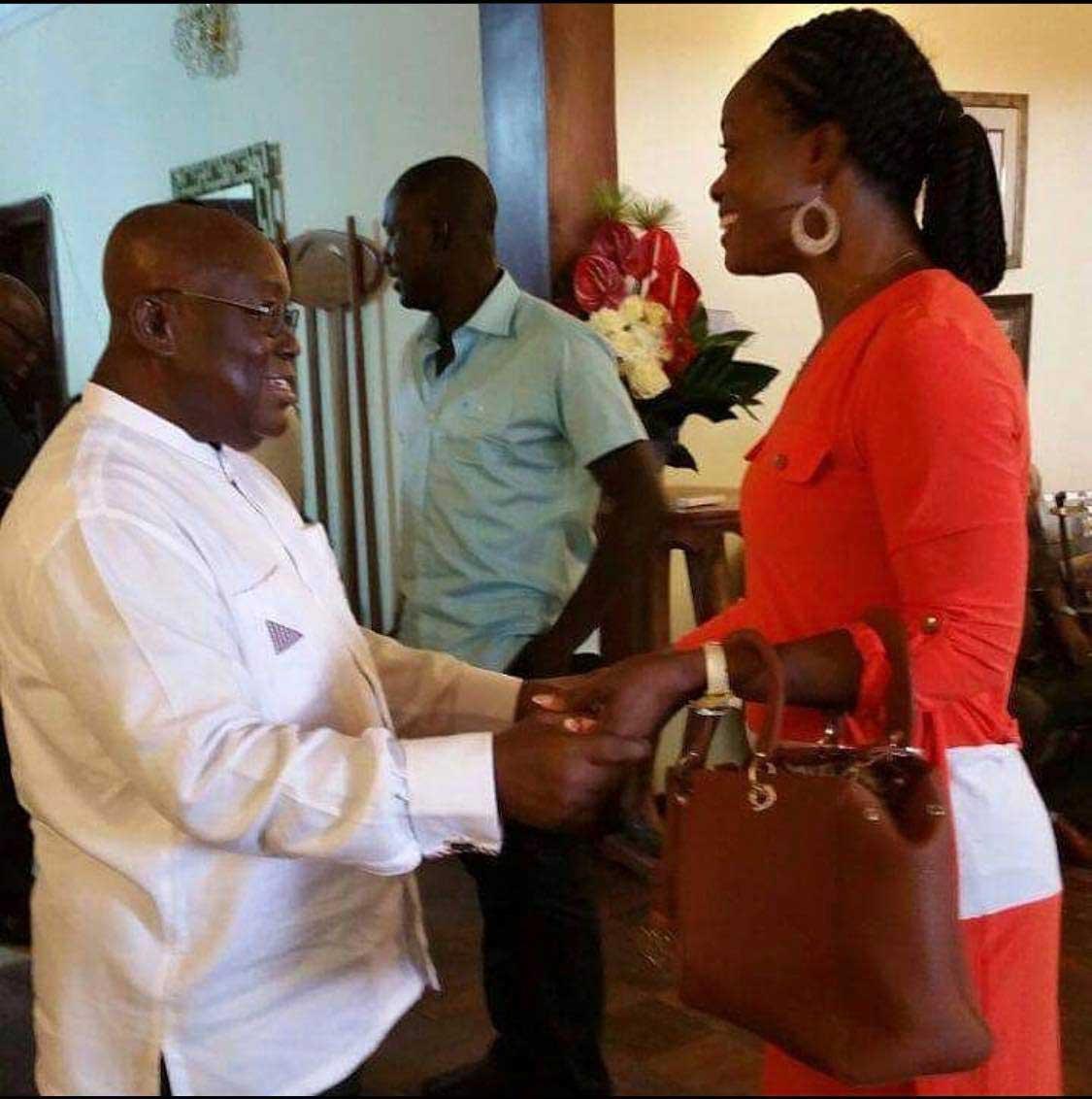 Diana Asamoah with Nana Addo