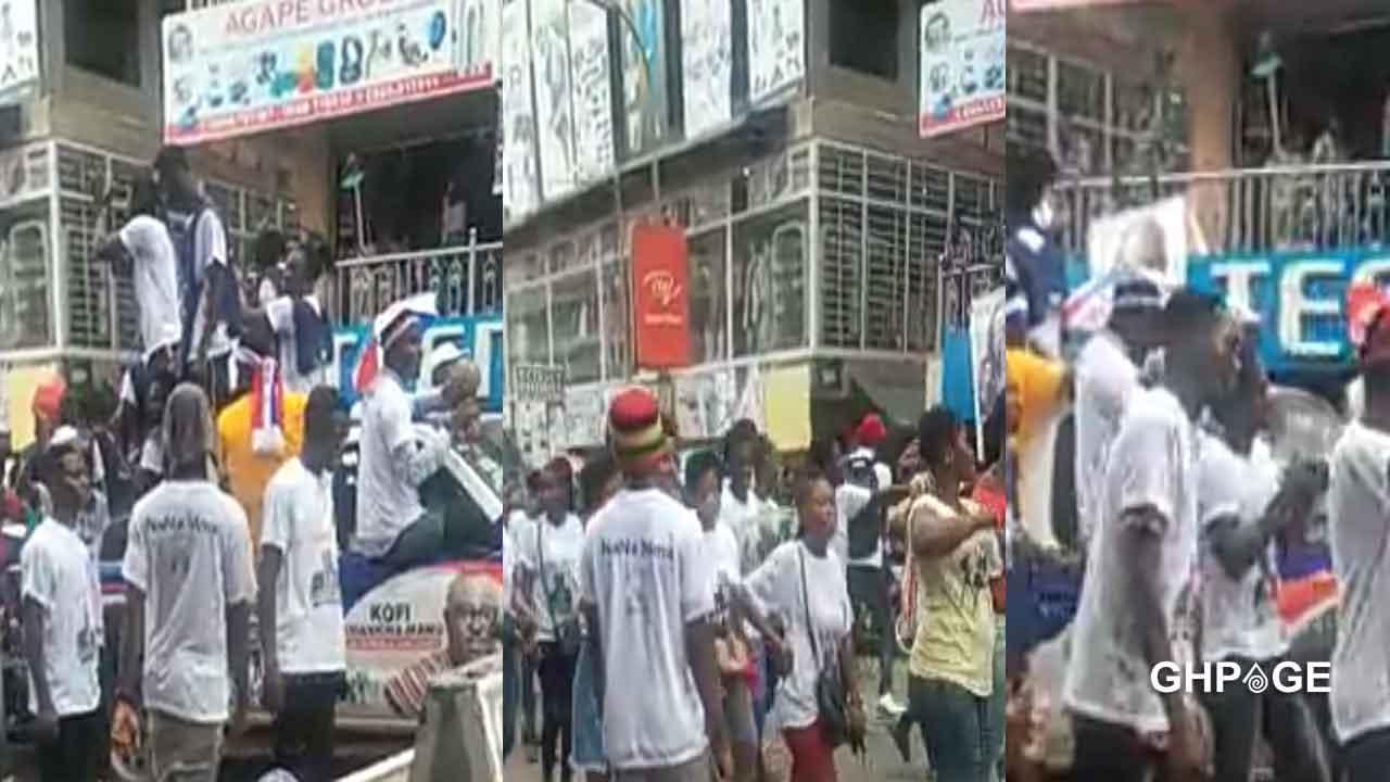 4More4Nana: Free SHS graduates hit the streets of Kumasi to campaign for Nana Addo