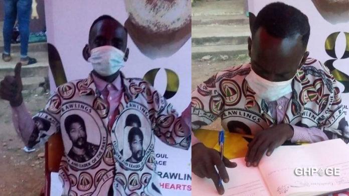 Hon. Aponkye signs JJ Rawlings book of condolence - Netizens react