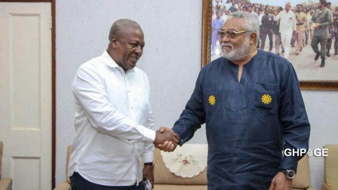 Mahama reacts to the death of J.J Rawlings
