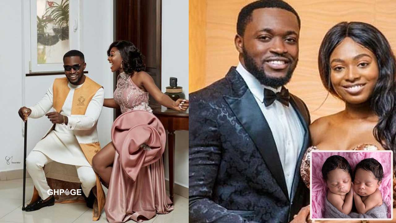 KENCY 2020: Kennedy Osei's wife Tracy Osei gives birth to twin girls (Photos)