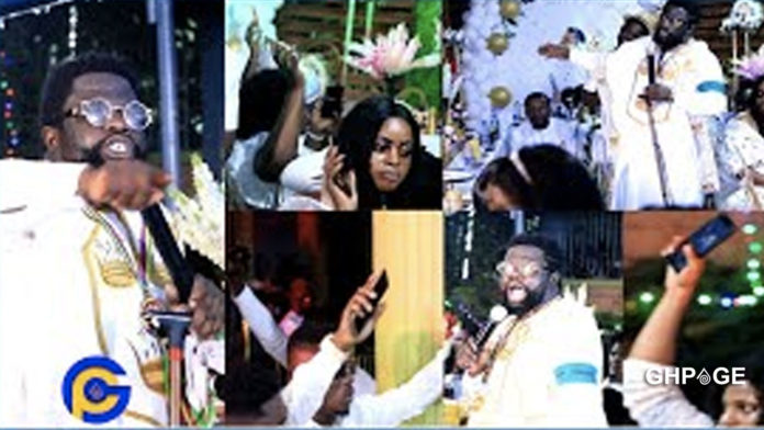 Pastor commands mobile money to appear on guest phones at his birthday party