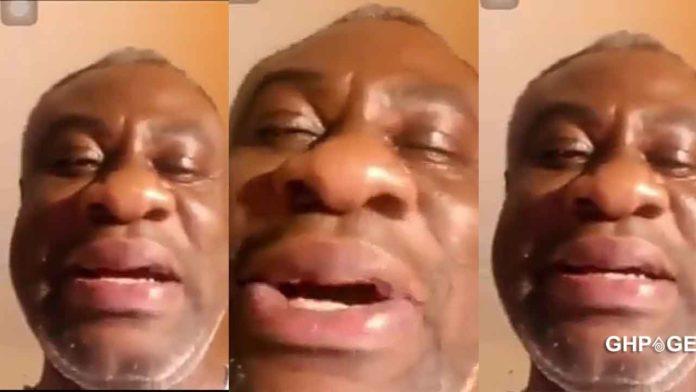 Old man cries over a broken heart
