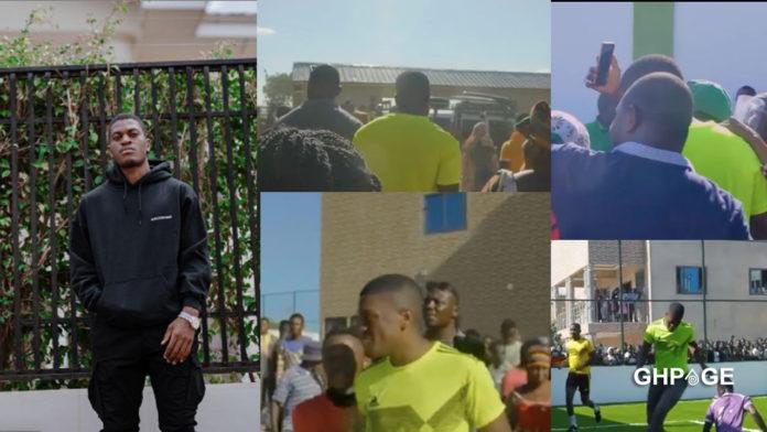 Sharaf Mahama visit Bole to inspire the youth through football