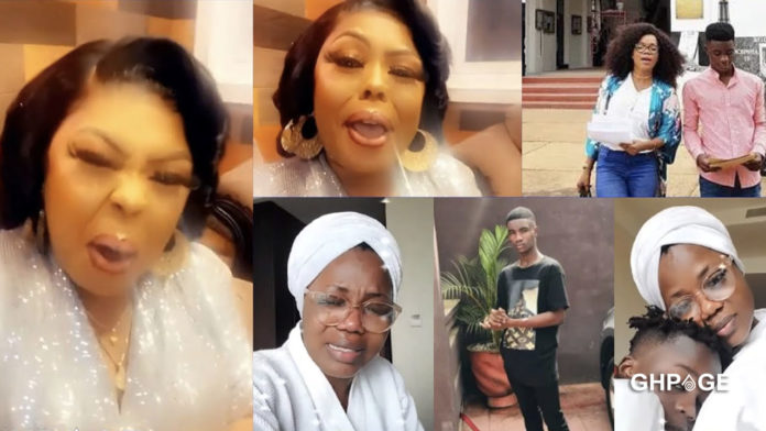 You were teaching him how to drink alcohol - Afia Schwar jabs Mzbel