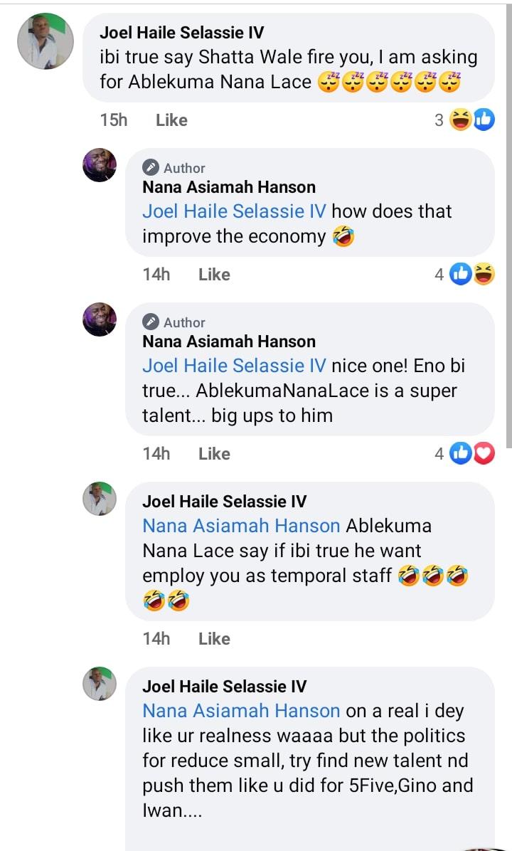 Bulldog response to Shatta's sack