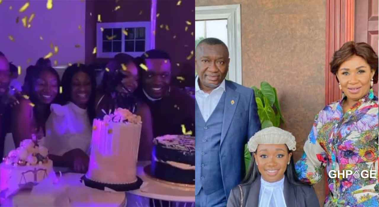 Dr. Ofori Sarpong throws lavish party for daughter after graduating from Law School