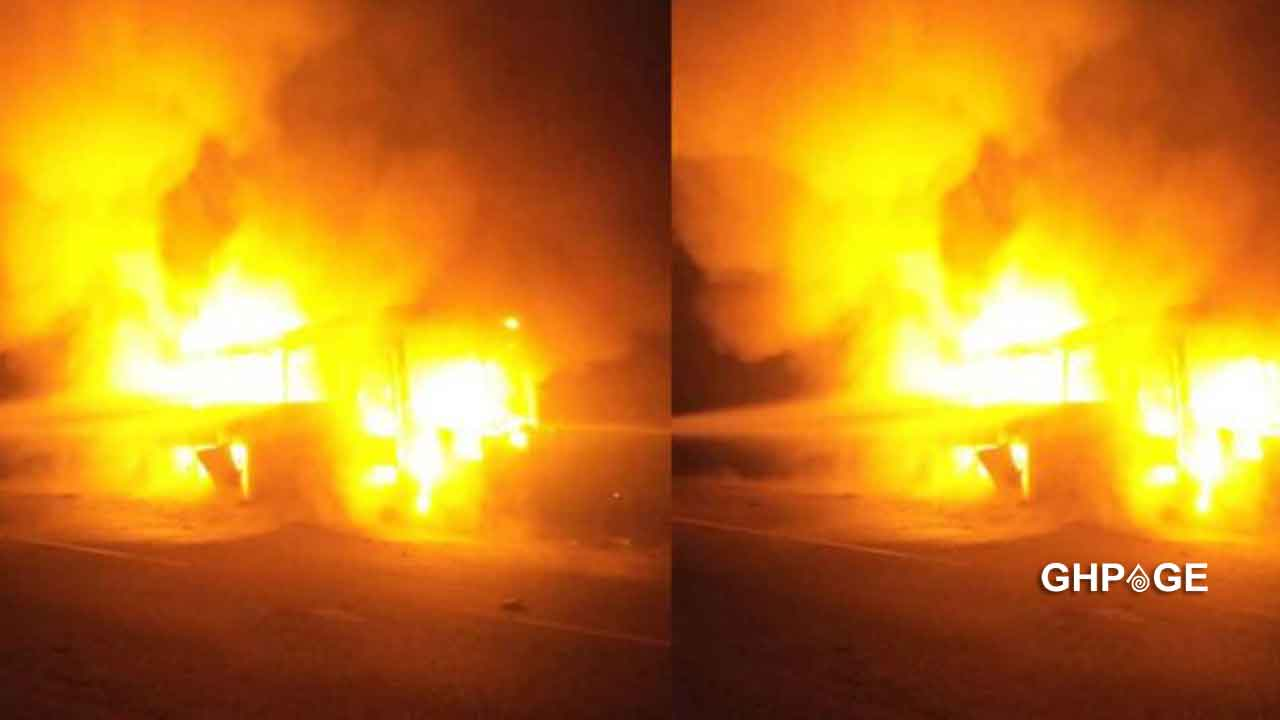 Breaking News: Electoral Commission Office at Fomena razed down by fire