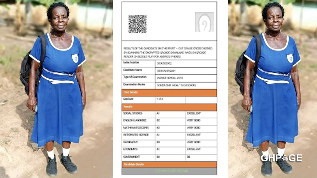 Results of Grandma who sat for 2020 BECE surfaces on social media