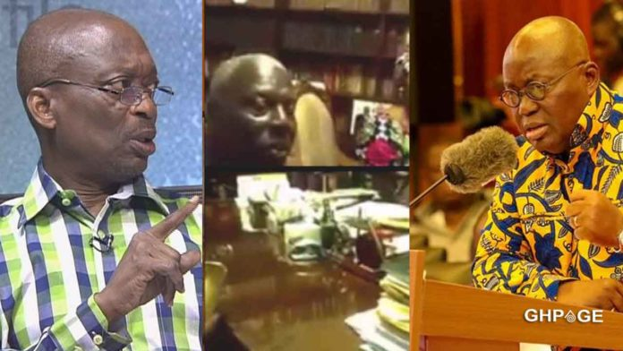 Kweku Baako discloses the identity of the person who leaked the Akufo-Addo bribe video
