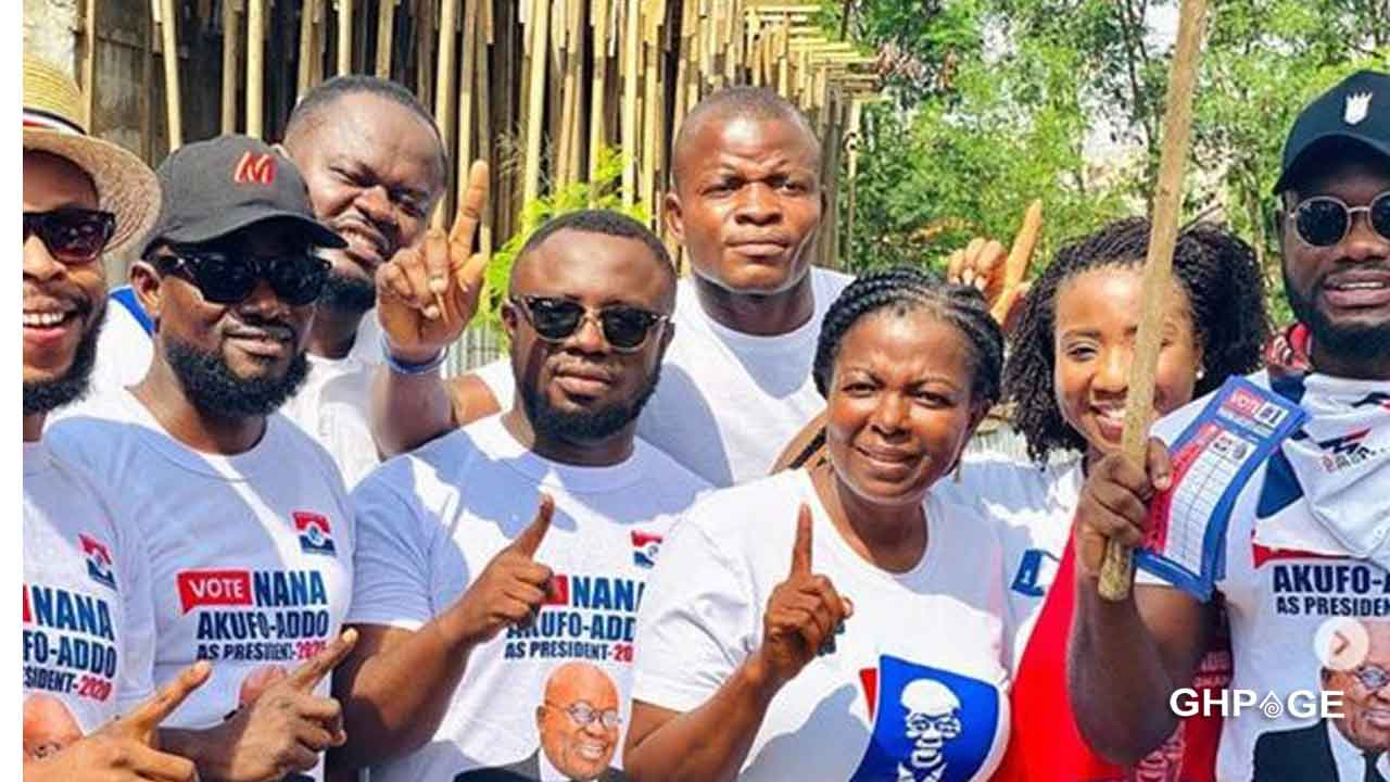 Kalybos, Prince David Osei, storms Ayawaso West to campaign against John Dumelo