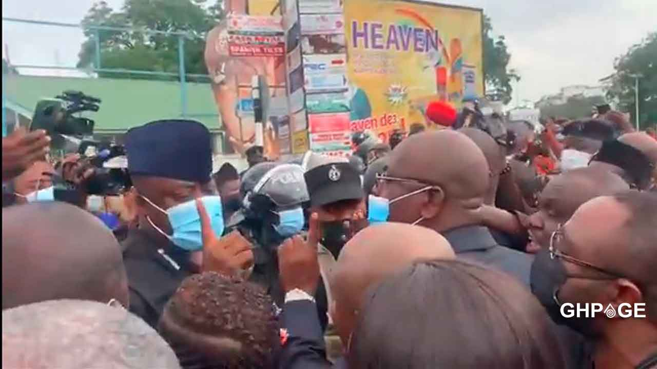 NDC MP's clash with police at EC office (video)