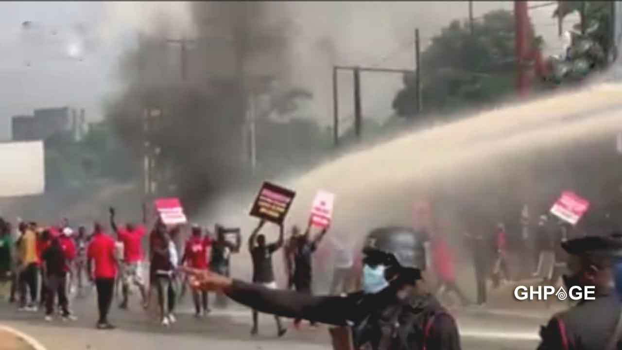 Thousands of NDC supporters clash with Police at EC Headquarters