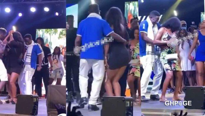 Peter Amewu grinds big booty ladies