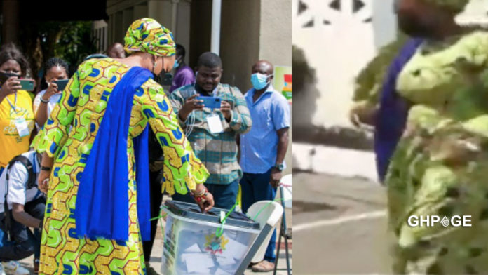 #Elections 2020: Samira Bawumia votes without voters ID