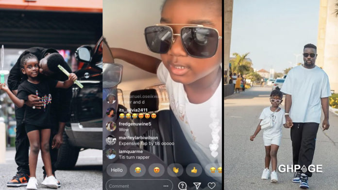 Titi raps for the first time to the admirations of Sarkodie's fans