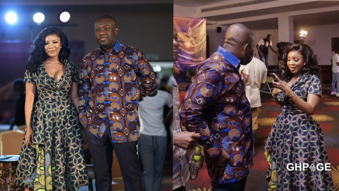 Netizen reacts after Serwaa Amihere shared a night out photo with Kojo Oppong Nkrumah