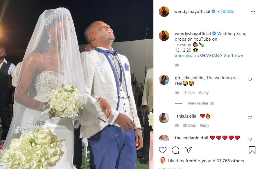 Wendy Shay wedding
