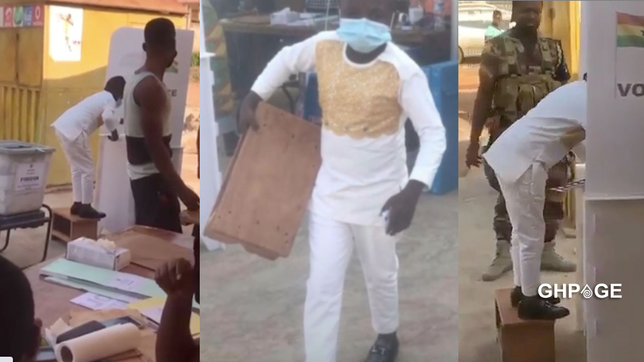 Yaw Dabo storms polling station with a kitchen stool (VIDEO)