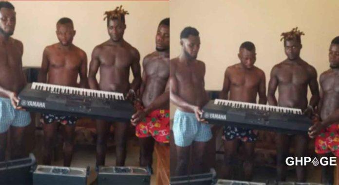 guys arrested church instrument