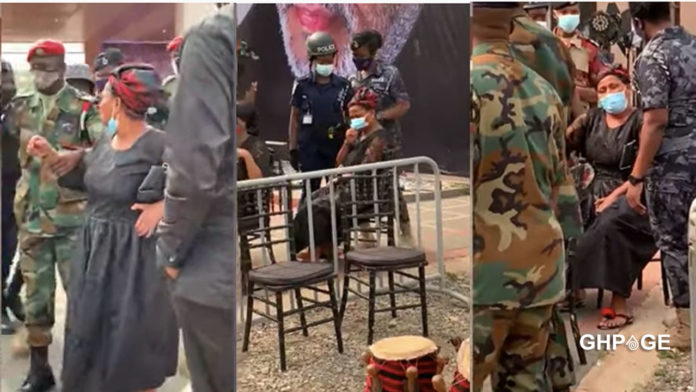 Mysterious daughter of JJ Rawlings prevented by Military from seeing his mortal remains