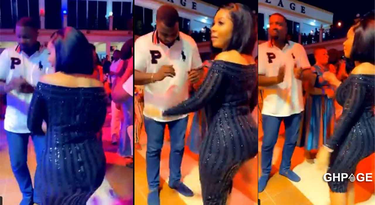 Video of John Dumelo partying with Serwaa Amihere without wedding ring sparks rumours