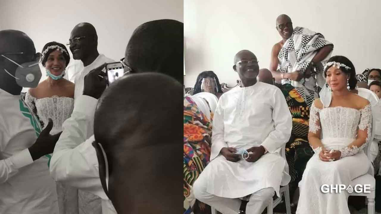 Kennedy Agyapong celebrates 25 years of marriage with his second wife in an all-white feast; photos drop