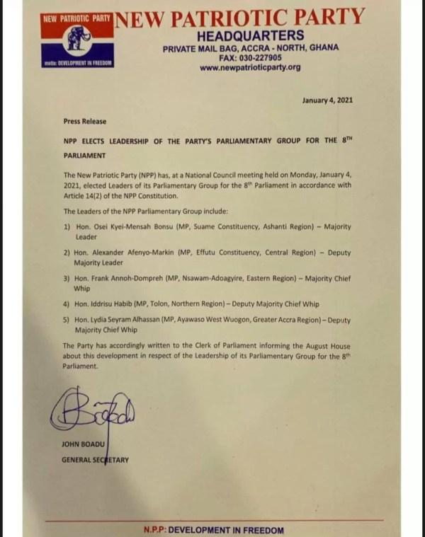 NPP Press Release