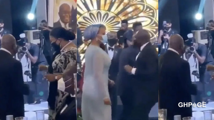 First and second family challenge each other in a dance battle at a private dinner (VIDEO)