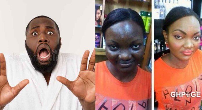 Nigerian man girlfrien makeup