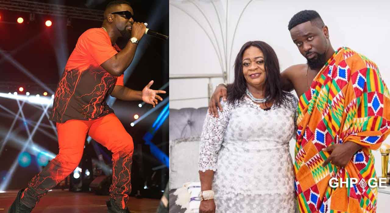 Sarkodie's mum poses with his expensive cars at his mansion in a new picture