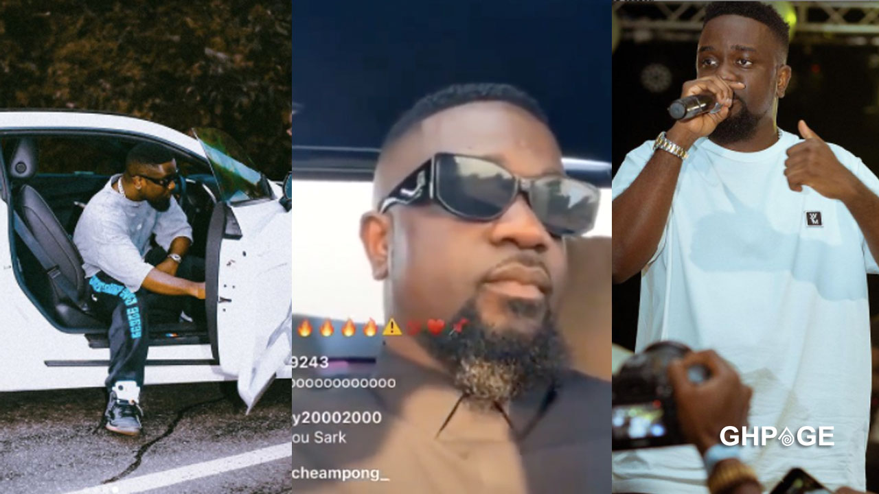 Sarkodie almost involved in a road accident
