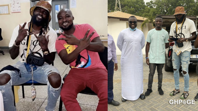 Adebayor visits Funny Face for the first time after neglecting him for months