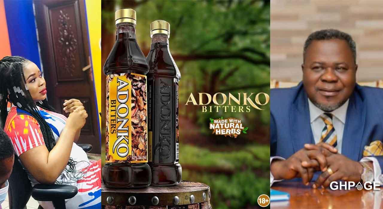 Adu Safowaa exposes Dr Kwaku Oteng's Adonko brand