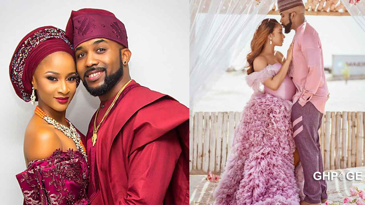 Pictures of Banky W and wife Adesua Etomi firstborn child