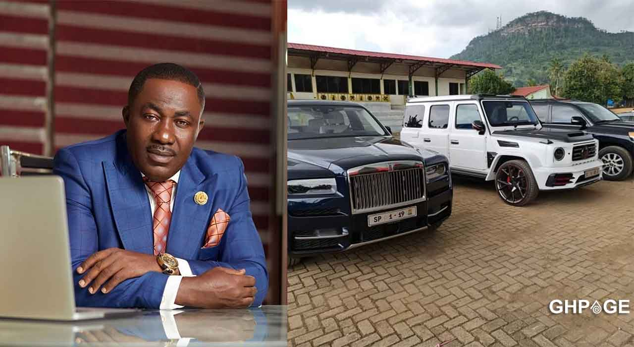 A new video captures all Osei Kwame Despite's luxurious cars in his East Legon mansion