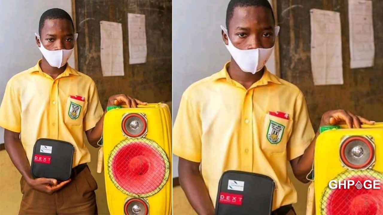 JHS student makes a sound system with Bluetooth technology out of a gallon