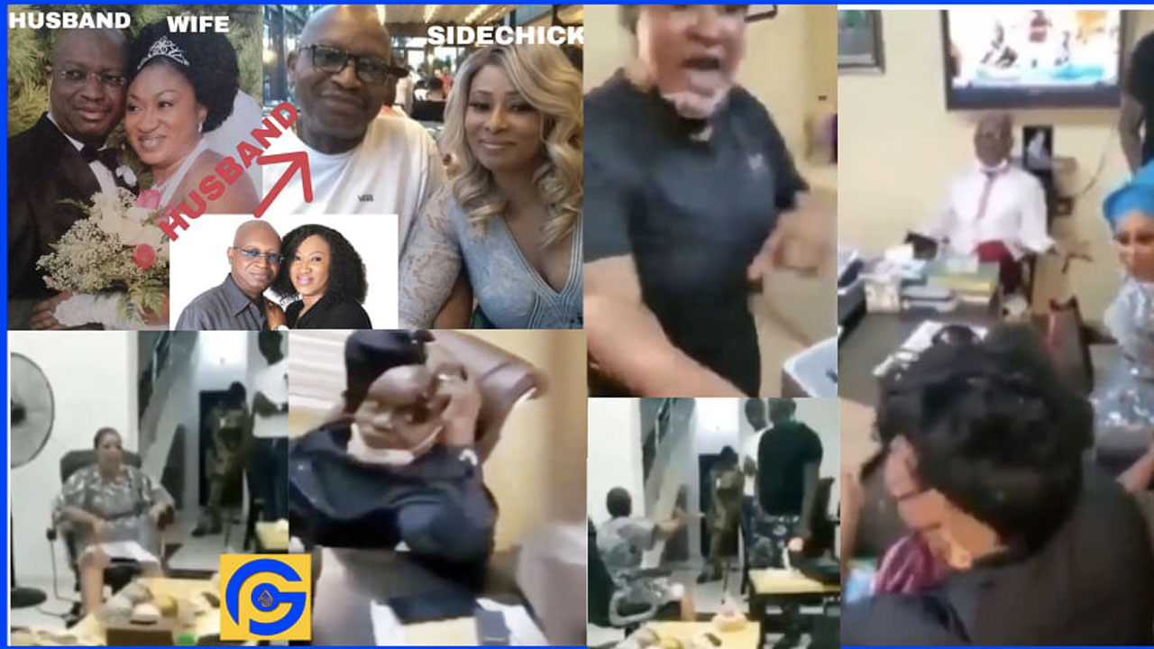 Estranged wife & husband's side chick fight in DPO's office